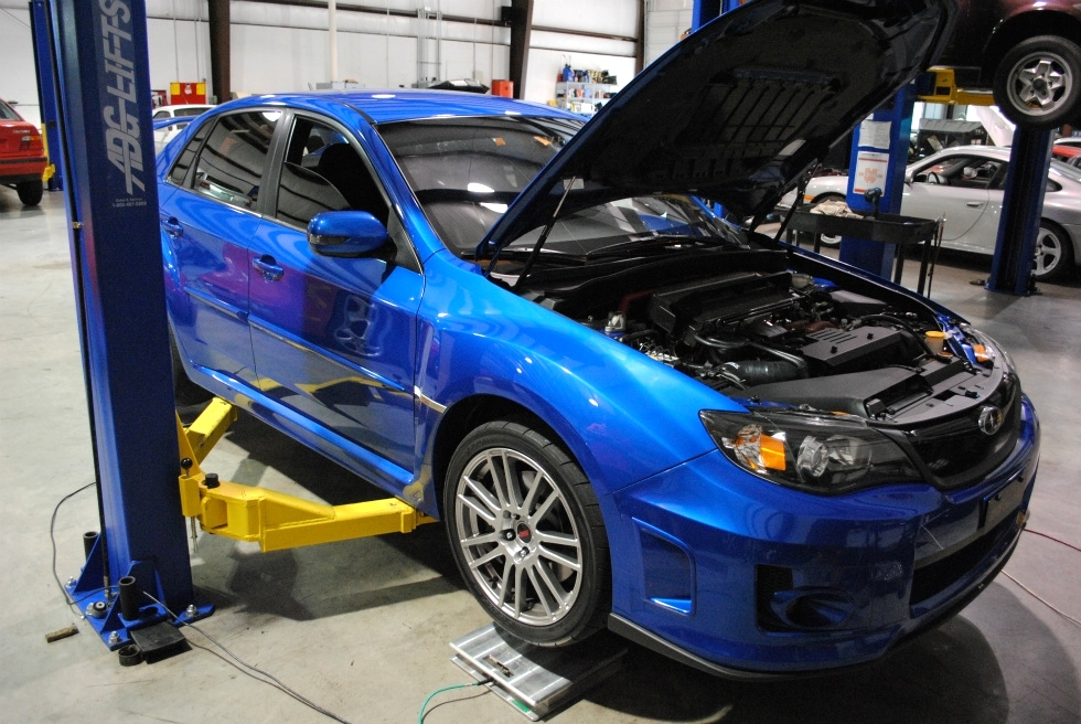 Subaru STI Corner Balancing and Alignment EuroHaus MotorSports